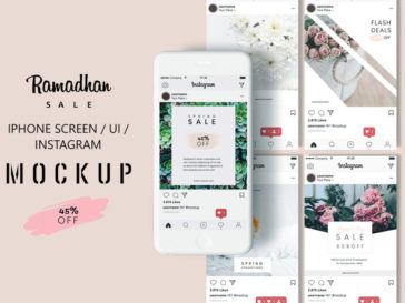 Iphone – Instagram MockUp, Smashmockup