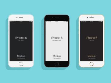 Flat iPhone 6 Mockup, Smashmockup