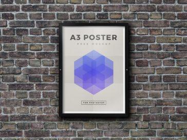 A3 Outdoor Framed Poster Mockup, Smashmockup