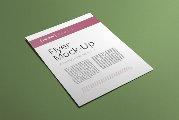 A4 and US Letter Flyer Mockup, Smashmockup
