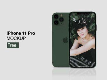 Free iPhone 11 Pro Mockup, Smashmockup