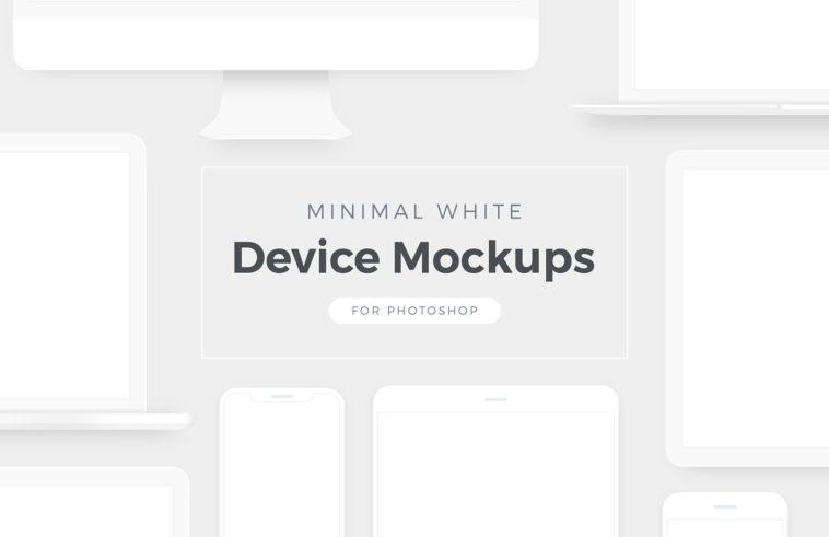 Minimal White Gadget Mockups, Smashmockup