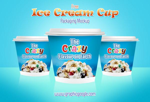 Modern Ice Cream Cup Packaging Mockup, Smashmockup