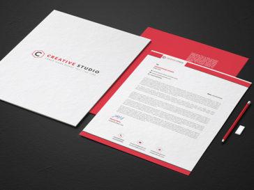 Modern Letterhead Design Mockup, Smashmockup
