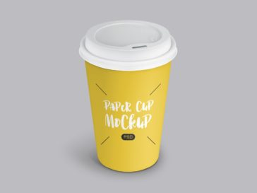 PSD Paper Coffee Cup Mockup, Smashmockup