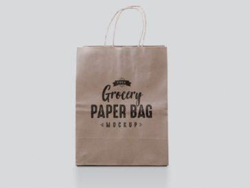 Paper Bag Shop Mockup, Smashmockup