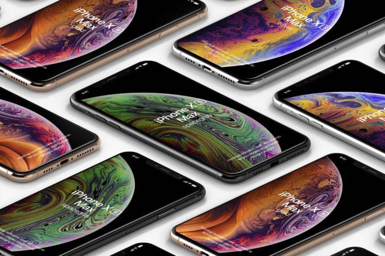 Perspective Isometric iPhone XS Max Mockup, Smashmockup