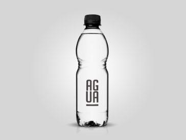Plastic Water Bottle Mockup, Smashmockup