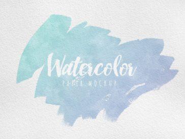 Watercolor Paper Mockup, Smashmockup