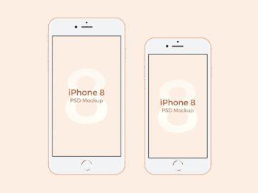 iPhone X + iPhone 8 Mockups, Smashmockup