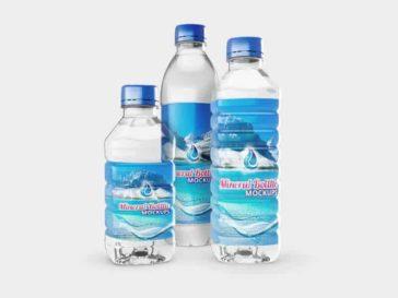 Mineral Water Bottles Mockup, Smashmockup