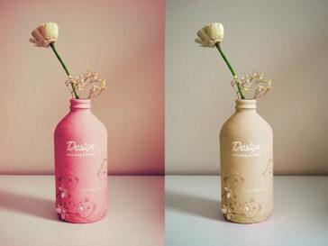 Handmade Bottle Mockup, Smashmockup