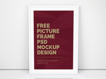 Clean Minimalistic Poster Frame Mockup, Smashmockup