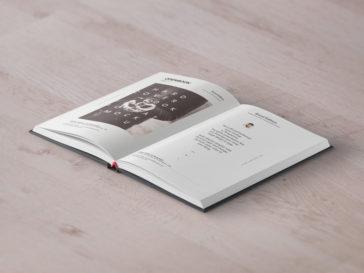 Open Hardcover Book Mockup, Smashmockup