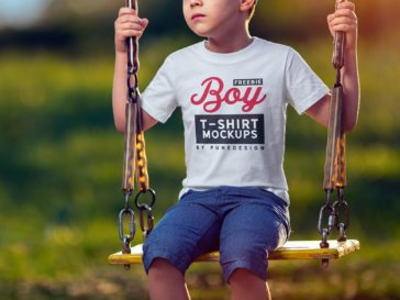 Boy T-Shirt Mockup PSD, Smashmockup