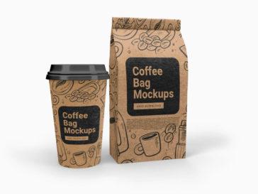 Cup and Coffee Bag Mockup, Smashmockup