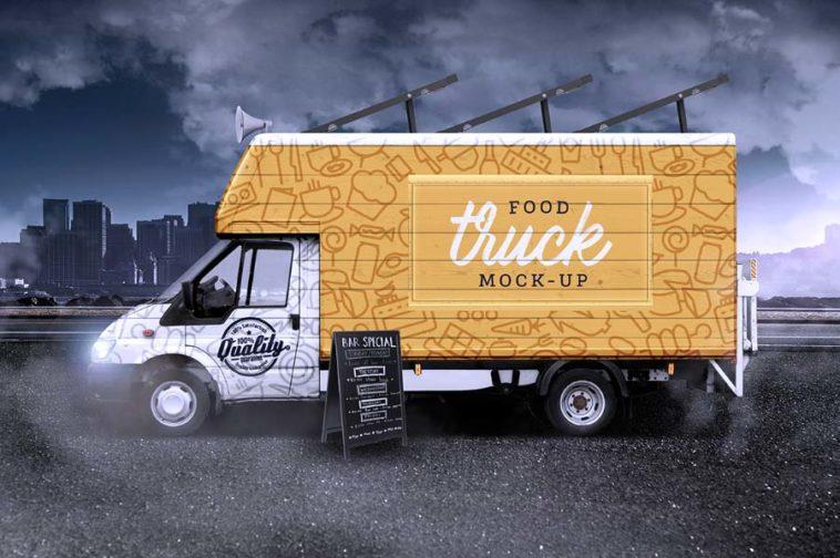 Food Truck Mockup, Smashmockup