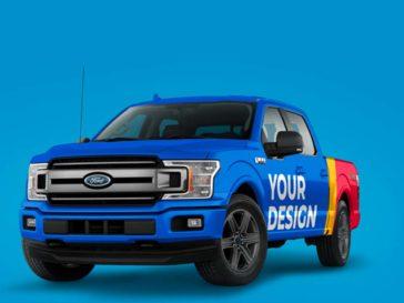 Ford Pickup Truck Mockup, Smashmockup