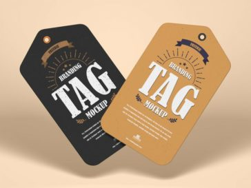 Floating Stylish Tags Mockup, Smashmockup