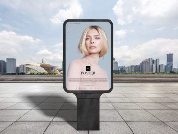 Modern City Outdoor Billboard Poster Mockup, Smashmockup