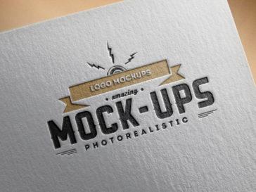 Logo Mockup Paper PSD, Smashmockup