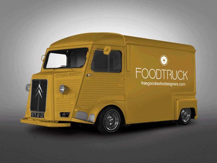 Retro Food Truck Mockup, Smashmockup