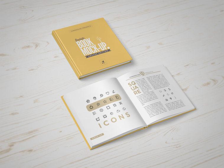 High quality PSD Book Mockup, Smashmockup