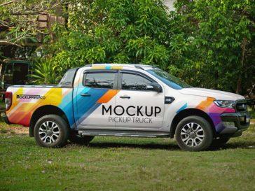 Vehicle Pickup Truck Mockup, Smashmockup