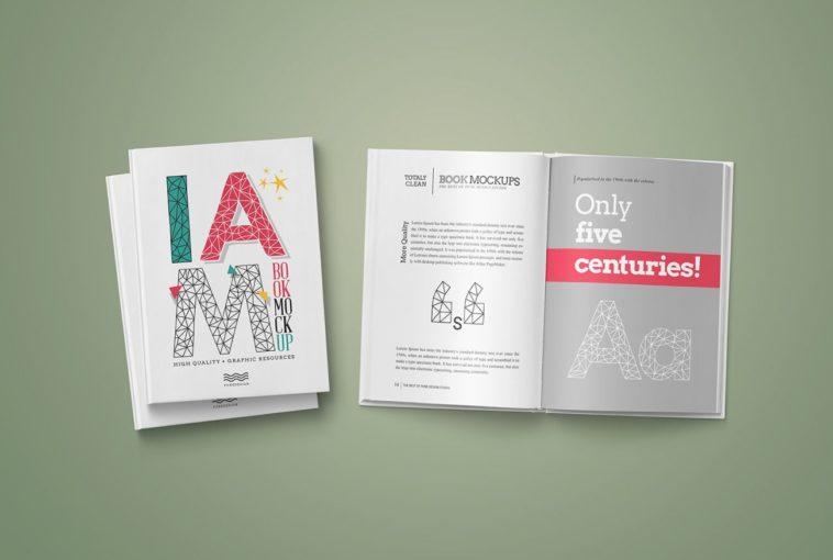 High quality Hardcover PSD Book Mockup, Smashmockup