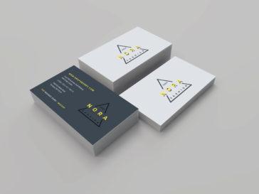 Fresh Realistic Business Cards Mockup, Smashmockup