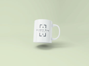 Flying Coffee Mug Mockup, Smashmockup