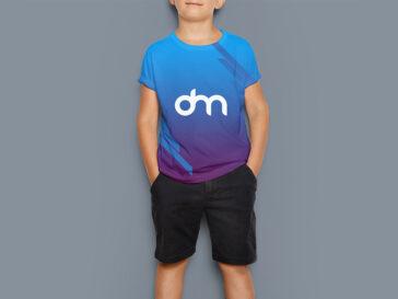 Kids T-Shirt Mockup PSD, Smashmockup