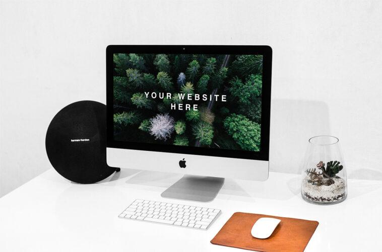 Workspace iMac PSD Mockup, Smashmockup