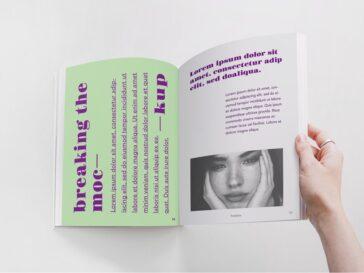 Realistic Magazine PSD Mockup, Smashmockup
