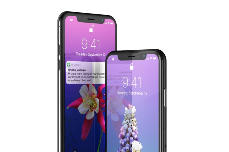 Close View iPhone X Mockup, Smashmockup