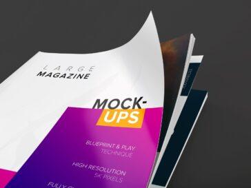 Large Magazine Cover Mockup, Smashmockup