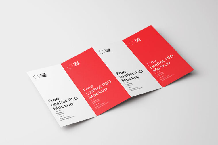 Four Fold Brochure Mockup, Smashmockup