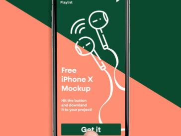 iPhone X PSD Mockup, Smashmockup