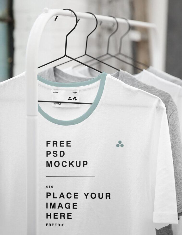 Store Hanging T-Shirt Mockup, Smashmockup