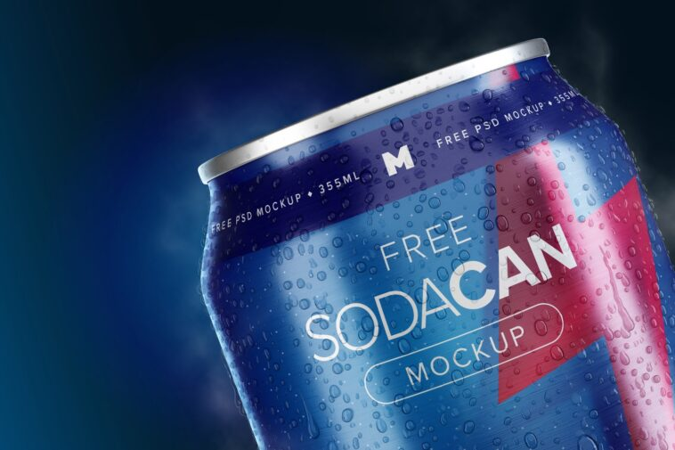 355ml (12oz) Soda Can Mockup, Smashmockup