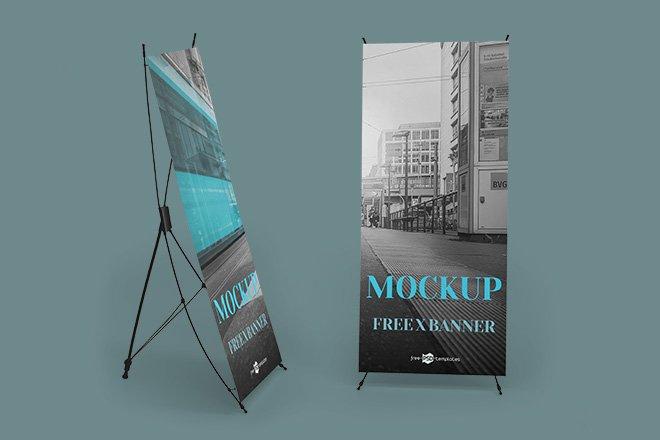 Professional X Banner Mockup, Smashmockup