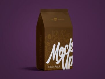 Flow Pack Mockup PSD, Smashmockup