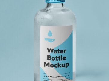 Small Glass Bottle Mockup, Smashmockup